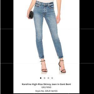GRLFRND Karolina High Rise skinny jean get bent